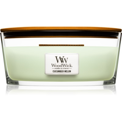 Woodwick Cucumber Melon Scented Candle  Hearthwick