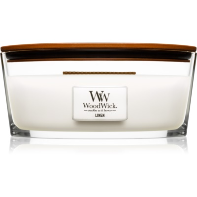 Woodwick Linen Scented Candle  Hearthwick