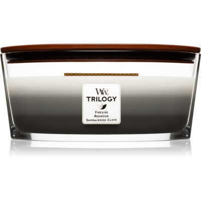 Woodwick Trilogy Warm Woods bougie parfumée  Hearthwick