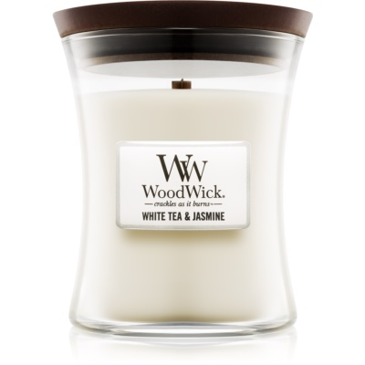 Woodwick White Tea & Jasmin Geurkaars  Medium