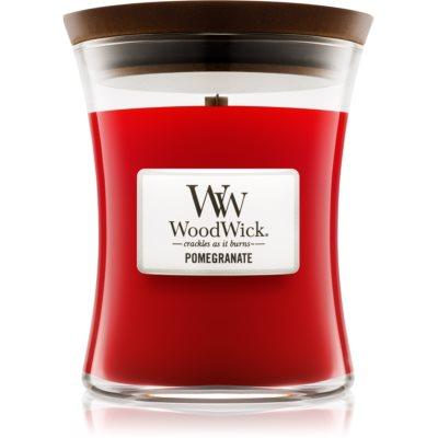 Woodwick Pomegranate bougie parfumée  moyenne