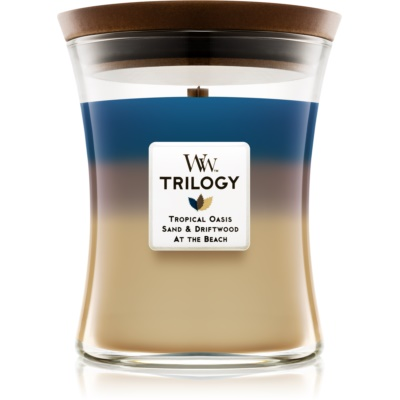 Woodwick Trilogy Nautical Escape bougie parfumée  moyenne
