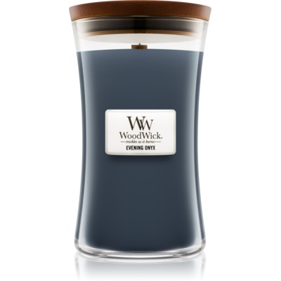 Woodwick Evening Onyx Geurkaars  Groot