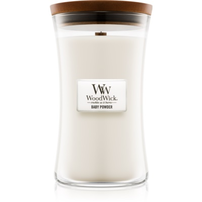 Woodwick Baby Powder dišeča sveča   velika