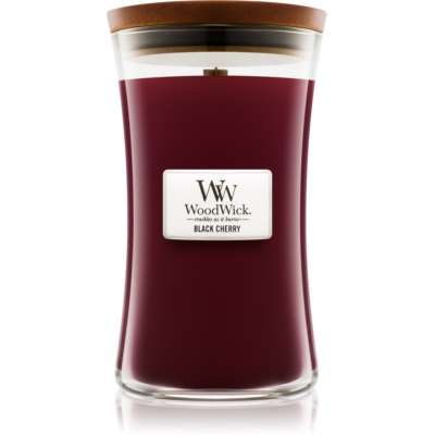 Woodwick Black Cherry bougie parfumée  grande