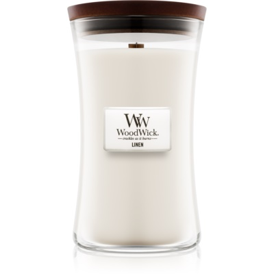 Woodwick Linen Scented Candle  Large