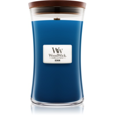 Woodwick Denim bougie parfumée  grande