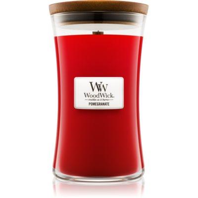 Woodwick Pomegranate bougie parfumée  avec mèche en bois