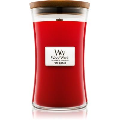 Woodwick Pomegranate bougie parfumée  grande