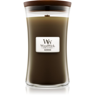 Woodwick Oudwood bougie parfumée  grande