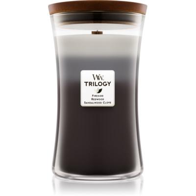 Woodwick Trilogy Warm Woods świeczka zapachowa   duża
