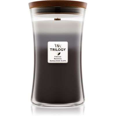 Woodwick Trilogy Warm Woods candela profumata  grande