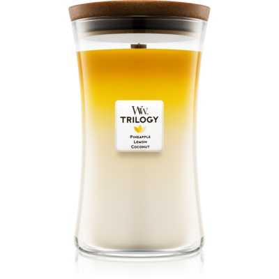 Woodwick Trilogy Fruits of Summer bougie parfumée  grande