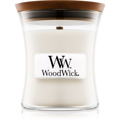 Woodwick Baby Powder αρωματικό κερί με ξύλινο φιτίλι