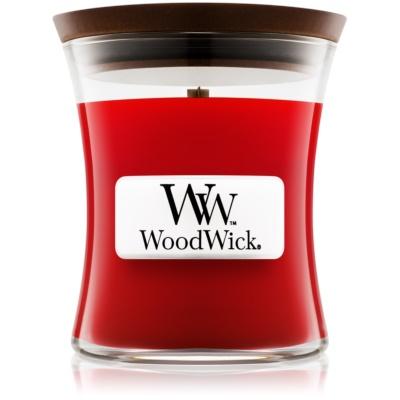 Woodwick Pomegranate dišeča sveča   z lesenim stenjem