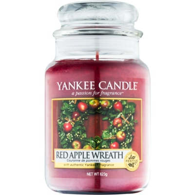 Yankee Candle Red Apple Wreath vela perfumado  Classic grande