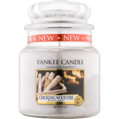Yankee Candle Crackling Wood Fire Scented Candle 410 g Classic Medium