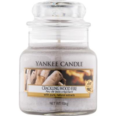 Yankee Candle Crackling Wood Fire Geurkaars 104 gr Classic Mini