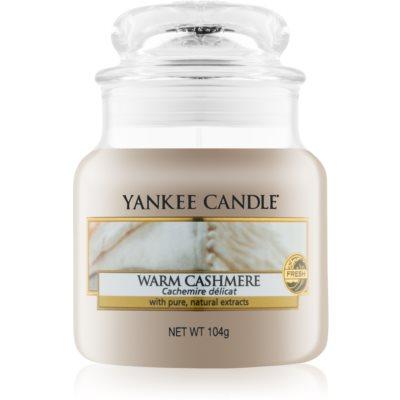 Yankee Candle Warm Cashmere Αρωματικό κερί 104 γρ Κλασικό μικρό