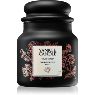 Yankee Candle Golden Rose candela profumata  medio