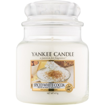 Yankee Candle Spiced White Cocoa Scented Candle  Classic Medium