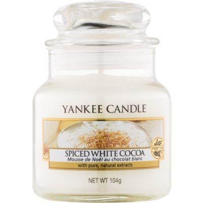 Yankee Candle Spiced White Cocoa Duftkerze  104 g Classic mini