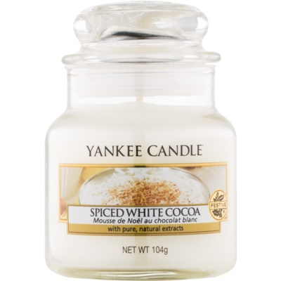 Yankee Candle Spiced White Cocoa bougie parfumée 104 g Classic petite