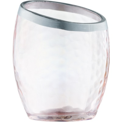 Yankee Candle Pearlescent Crackle Glass Votive Candle Holder    Pink