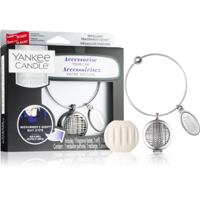 Yankee Candle Midsummer´s Night Car Air Freshener   Pendant + One Refill (Geometric)