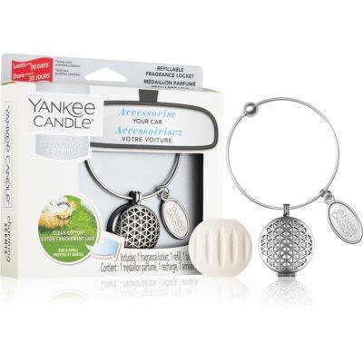 Yankee Candle Clean Cotton désodorisant voiture   pendentif + recharge (Geometric)