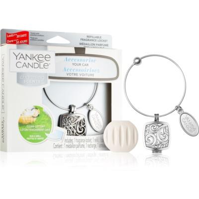 Yankee Candle Clean Cotton dišava za avto   obesek + nadomestno polnilo (Square)