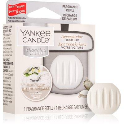 Yankee Candle Fluffy Towels ambientador de coche para ventilación recarga de recambio