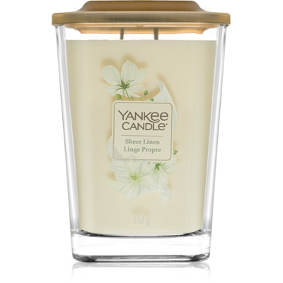 Yankee Candle Elevation Sheer Linen bougie parfumée  grande