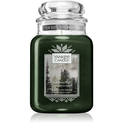 Yankee Candle Evergreen Mist ароматна свещ  Classic голяма