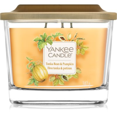Yankee Candle Elevation Tonka Bean & Pumpkin dišeča sveča
