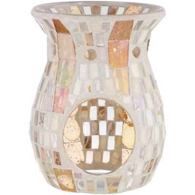 Yankee Candle Gold Wave Mosaic Glass Aroma Lamp