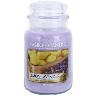 Yankee Candle Lemon Lavender ароматна свещ   Classic голяма
