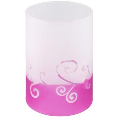 Castiçal em vidro para velas de chá