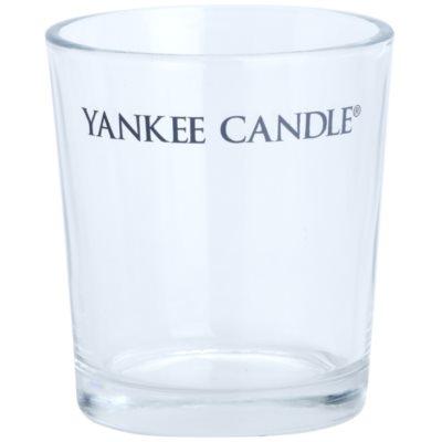 szklany świecznik na sampler