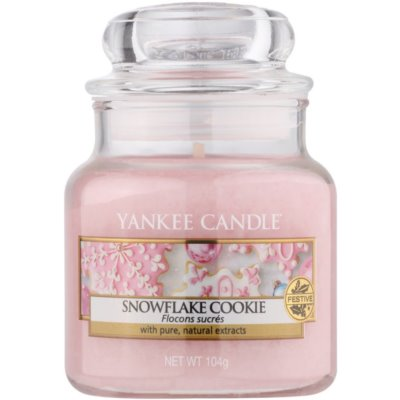 Yankee Candle Snowflake Cookie vonná svíčka  Classic malá