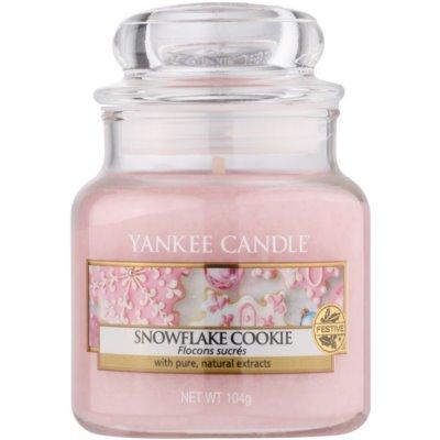 Yankee Candle Snowflake Cookie vonná sviečka  Classic malá