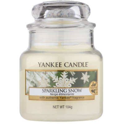 Yankee Candle Sparkling Snow Scented Candle  Classic Mini