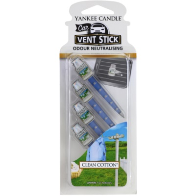 Yankee Candle Clean Cotton illat autóba
