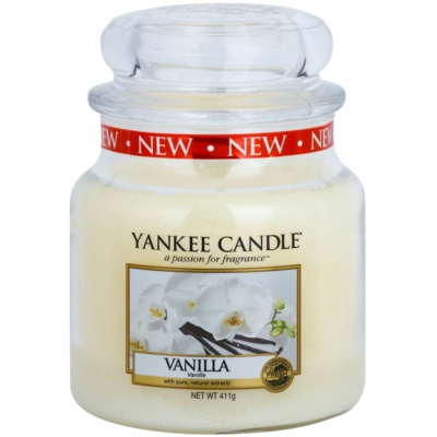 Yankee Candle Vanilla Αρωματικό κερί  Κλασικό μέτριο