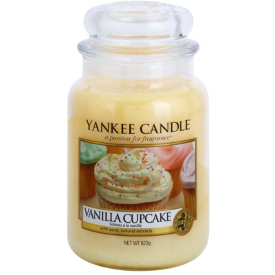 Yankee Candle Vanilla Cupcake Αρωματικό κερί  Κλασικό μεγάλο
