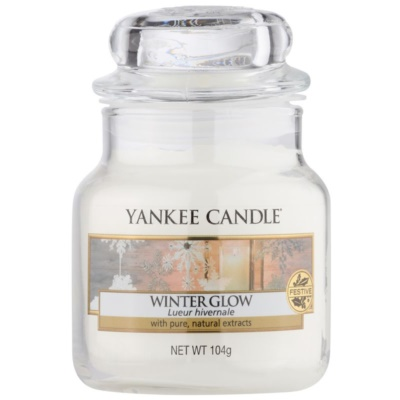 Yankee Candle Winter Glow dišeča sveča  104 g Classic majhna