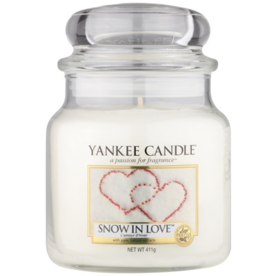 Yankee Candle Snow in Love ароматна свещ   Classic средна
