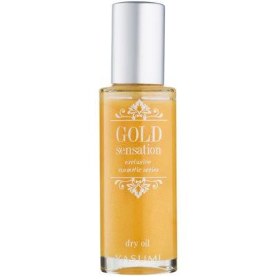 óleo seco com partículas de ouro para rosto, corpo e cabelo
