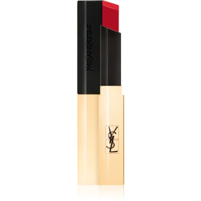 Yves Saint Laurent Rouge Pur Couture The Slim batom com acabamento couro mate