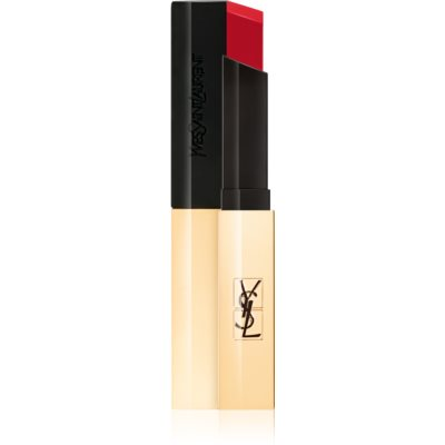 Yves Saint Laurent Rouge Pur Couture The Slim dunne matte lippenstift met leatherlook
